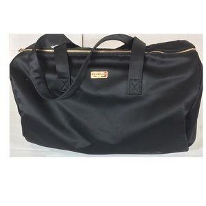 Good Girl Carolina Herrera Black Satin Duffle Bag